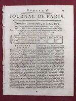 Chasse de Saint Hubert 1788 Borach Levi Judaïca Rare Journal de Paris