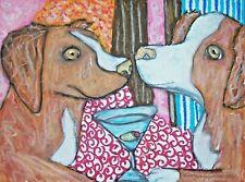 Nova Scotia Duck Tolling Retriever 4x6 Dog Art Print *Toller Gift Idea*