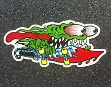 Santa Cruz Slasher Sword Skateboard Sticker 6in LARGE hand dot si