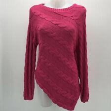 St John Pink Knit Asymmetrical Sweater Size Small
