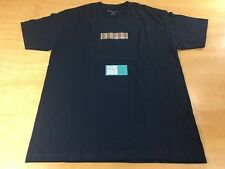 Aarons World This Is Not Supreme Burberry Box Logo Short Sleeve Tee Shirt Navy L