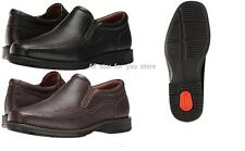 Rockport Real Capital Slip On Loafers oxford Leather Shoes Black OR Brown