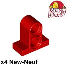 Lego technic - 4x pin connector plate 2 holes 1x2x1 2/3 rouge/red 32530 NEUF