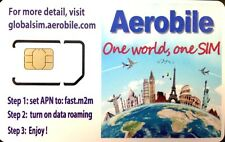 Europe Prepaid Global SIM Data Roaming Free Up to 3GB , Refillable, Tethering OK