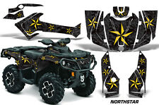 CanAm SST G2 AMR Racing Graphic Kit Wrap Quad Decal ATV 2013-2014 NORTHSTAR YLW