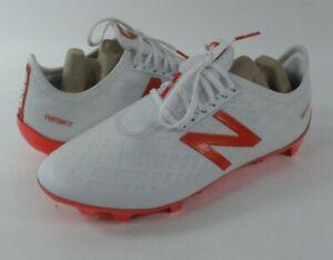 New Balance Men's Furon 4.0 Pro FG Soccer Shoe, White/Flame Orange, 7 D US