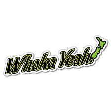 Whaka Yeah Sticker New Zealand NZ Kiwi Car Fern Decal