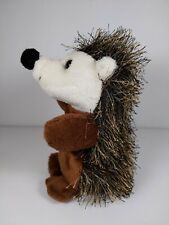 "Fiesta Spikey Hedgehog Plush Brown Stuffed bean Animal Toy 6.5"" Hedge Hog"