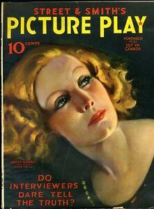 PICTURE PLAY  • NOV. 1931 • GRETA GARBO • cover by JOHN DREW