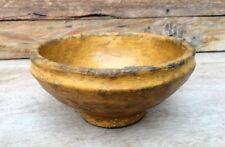 Antique Old Paper Mache Made Beautiful Bowl Pot Primitive Folk Art