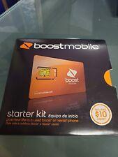 Boost Mobile 64k Sim Card Activation Starter Kit Standard size sim
