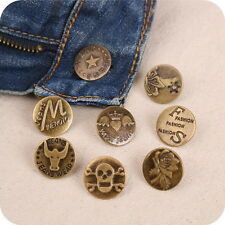 20 Sets Mix Style No Sew Replacement Repair Metal Studs Jean Pants Button 20MM