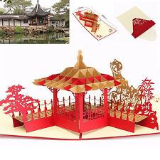 3d Pop up Greeting Card Pavilion Happy Birthday Annniversary Valentine's Day