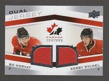 (55280) 2014-15 UD Team Canada Juniors Dual Jerseys Bo Horvat / Kerby Rychel
