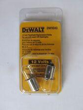 Dewalt 12V Flashilight Bulbs  2 Pack  #DW9043  NEW