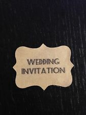 28 x VINTAGE Kraft Brown Wedding Paper Sticker Labels Personalised SEASIDE