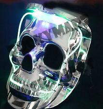 Light Up LED Silver SKULL MASK for Costume or Party Favor RM3079