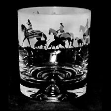 Animo Glass - SANDBLASTED FRIEZE WHISKY WHISKEY TUMBLER GLASS - Hunting