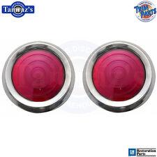 62 & 64 Impala Door Panel Red Reflector Lens Light - PAIR