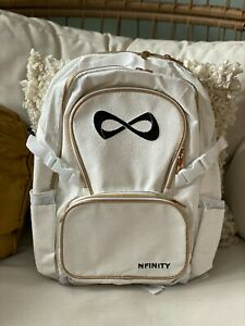 BRAND NEW - NFINITY WHITE MILLENIAL SUPER SPARKLE BACKPACK GOLD TRIM - IN STOCK