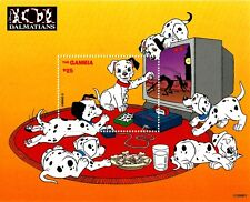 DISNEY STAMPS, THE GAMBIA, 101 DALMATIANS III, MNH, YEAR 1997