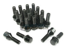 NNR Steel Conical Wheel Lug Bolts Black 28mm 12x1.5 20pcs Mercedes-Benz