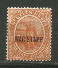 St Kitts & Nevis Scott #MR2 Mlh Tax Of War 1918