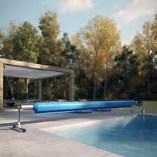 Enrouleur mobile hors sol pour bâche de piscine aluminium