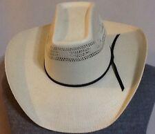 Serratelli Hat Company Bangora WESTERN STRAW COWBOY HAT SZ 6 7/8