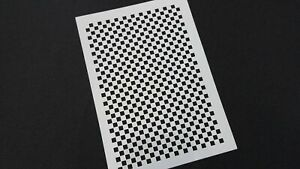 Small Squares Texture Stencils Reusable Mylar 0.5 x 0.5 cm each square Pattern