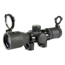 Tactical Scope Rubber Armored 3-9X40MM MIL DOT Reticle /w RINGS