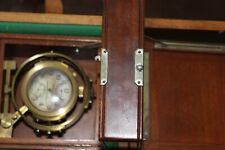 1943 HAMILTON SHIP CHRONOMETER MODEL 22,IN GIMBALS&BOX,21J,ADJ TEMP.&6 POS.