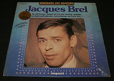 JACQUES BREL DISQUE D'OR*VG CONDITIION LP IMPACT RECORD FRENCH PRESS IN SHRINK!!