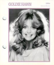 Goldie Hawn 1980's Actress Movie Star Card Photo Front Biography on Back 6 x 7""