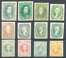 US 1935 Confederate States Springfield facsimile set of 12 MNH Forgery