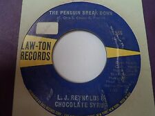 """7"""" L J REYNOLDS & CHOCOLATE SYRUP - What's a matter baby - EX+ LAW-TON 1556 - US"""