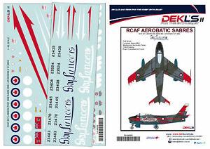 1/48 Canadair Sabre - RCAF Sky Lancers Aerobatic Team Post 1956 Decal DEKL's II
