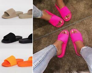 Ladies Womens Luxury Pool Sliders Mules Non Slip Sole Sandals Size