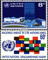 UN-New York 238-239 (complete issue) used 1971 against Racial D
