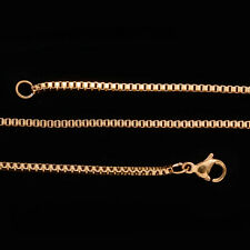 Chain (18 in, 1.5 mm, 3.6 g) Ion Plated Yellow Gold Stainless Steel Box