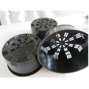 ORCHID POT - 200mm x 100mm - PORT SQUAT Pack of 5 Pots