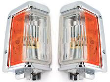 NEW Chrome Trim Corner Light Side Marker Park Lamps PAIR / FOR 88-95 PATHFINDER