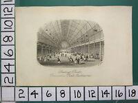 C1860 Piccolo Antico Eastbourne Stampa ~ Pattinaggio Rink Devonshire Park