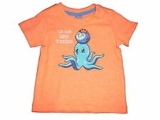 NEU Dopodopo tolles T-Shirt Gr. 62 orange mit Meerestiermotiven !!