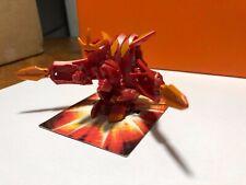 770G Pyrus Battalix Dragonoid Bakugan + 80G Axator Battle Gear + Cards