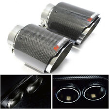 "Carbon Fiber Car Exhaust Tip Muffler  end Pipes 63mm 2.5""Inlet  Smooth surface"