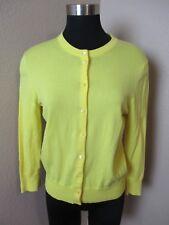 J Crew Button Front Yellow Cardigan Sweater Long Sleeve Size Medium M