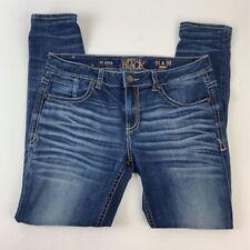 Buckle Black Mens Skinny Jeans Blue Stretch Fit 63 Medium Wash Whiskering 31x32