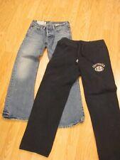 Lot of 2 abercrombie & Fitch BOYS PANTS Jeans Blue Denim and Sweatpants Size 12
