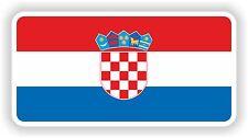 Flag Sticker of Croatia Croatian Bumper Decal Helmet Car Door Motorcycle Boat